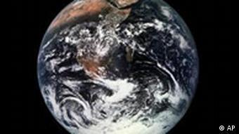 Erde aus dem All aufgenommen