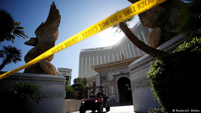 На месте трагедии в Лас-Вегасе