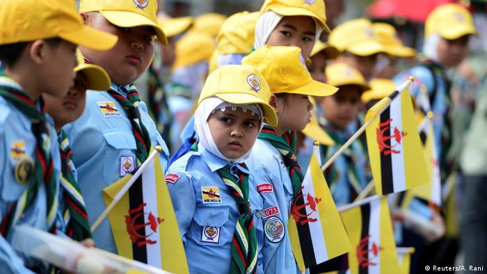 Some of Brunei's 400,000 people