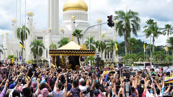 The Sultan celebrated his 50th year on the Brunei throne in 2017