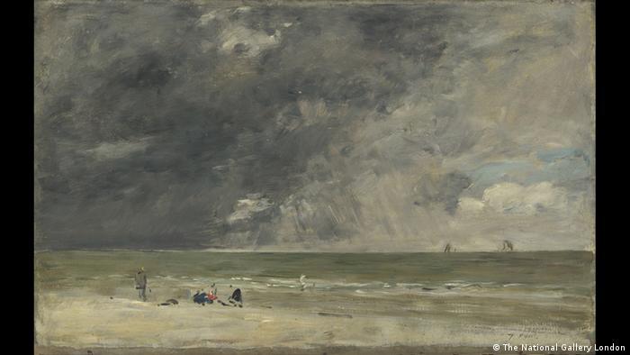 Пляж в Трувиле, 1890