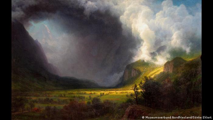 Альберт Бирштадт, Надвигающаяся гроза в горной долине, 1891