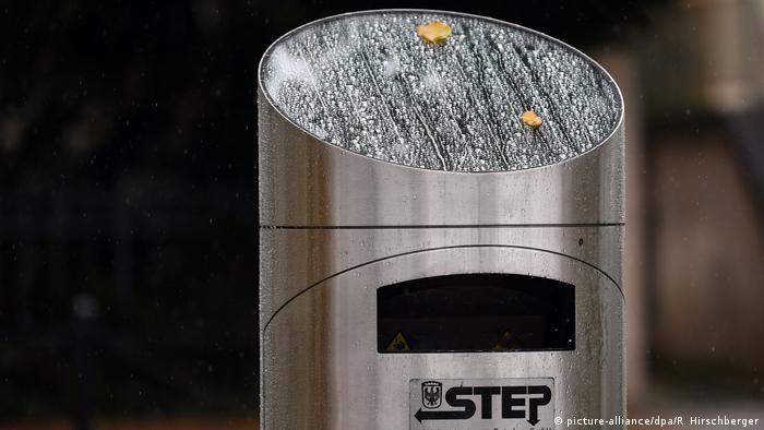 Swiss-made solar-powered trash cans (picture-alliance/dpa/R. Hirschberger)