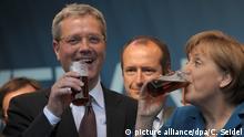 Deutschland Wahlkampf NRW - Merkel und Röttgen