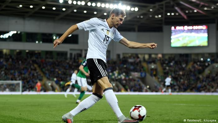 Leon Goretzka on the ball for Germany against Northern Ireland (Reuters/C. Kilcoyne)
