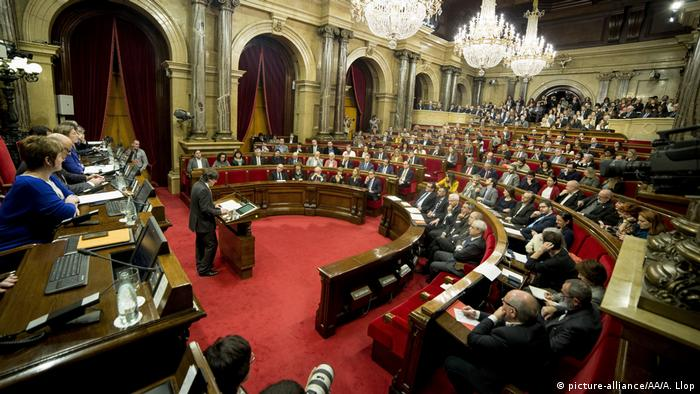 Kataloniens Parlament in Barcelona (picture-alliance/AA/A. Llop)