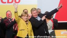 Deutschland Hildesheim Merkel und Althusmann