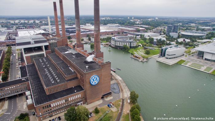 Volkswagen plant in Wolfsburg aerial view