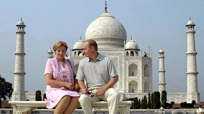 Bildergalerie Putin wird 65 mit Ex-Ehefrau Ludmila in Taj Mahal (Getty Images/AFP/J. Macdougall)