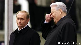 Putin and Yeltsin in 2000