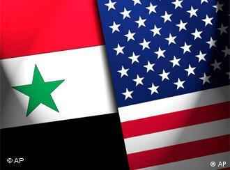 Flags of Syria and the United States