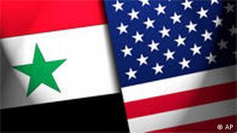 Symbolbild Grafik Flaggen Syrien USA