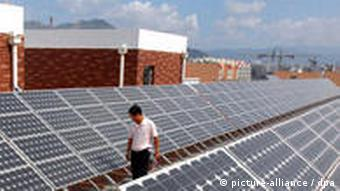 Solaranlage in China (Foto: dpa)