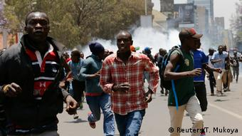 Kenia Präsidentschaftswahl Proteste in Nairobi (Reuters/T. Mukoya)
