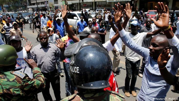 Protestas en Nairobi, Kenia. (6.10.2017).