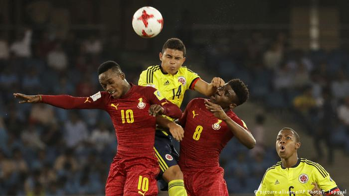 Indien U 17 WM- Kolumbien v Ghana (picture-alliance/AP Photo/T. Topgyal)