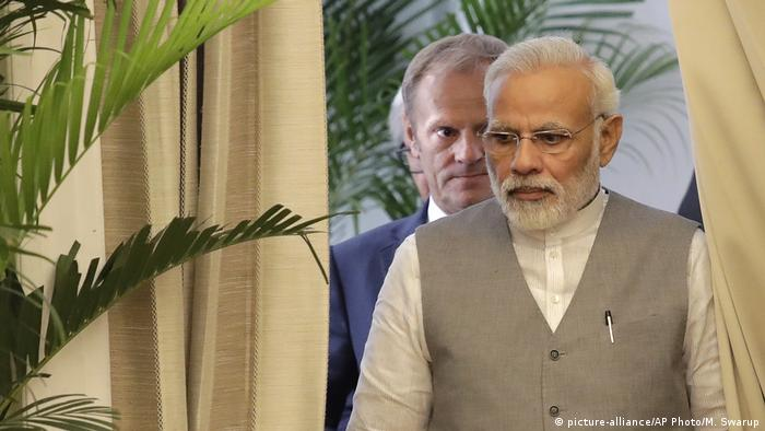 Narendra Modi meets European Council leaders