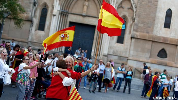 Spanien Pro Union Demonstranten in Sabadell Katalonien (Reuters/J. Medina )