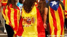 Spanien Barcelona Flaggen