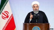 Oktober 2017 ++ Präsidenten Hassan Rohani bei einer Rede an der Teheran Universität