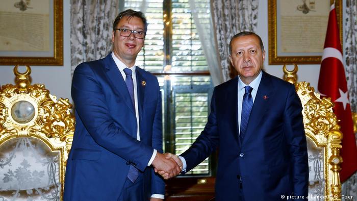 Türkei Treffen Erdogan und Vucic (picture alliance/AA/K. Ozer )