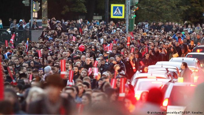 Акция в поддержку Навального в Санкт-Петербурге 7 октября 2017 года