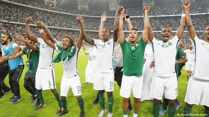 Fußball WM qualifiziert Nationalmanschaft Saudi-Arabien (Imago/Kyodo News)