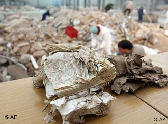 Ripped up book at the Cologne city archives collapes site