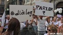 Spanien Friedlicher Protest vor dem Präsidentenpalast in Barcelona
