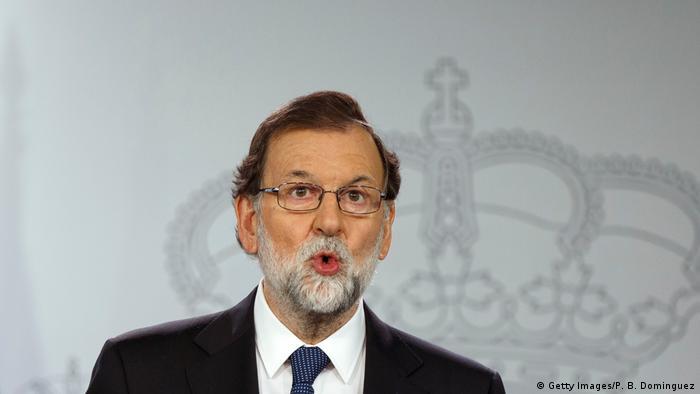 Spanien Rajoy droht Katalonien mit Entzug der Autonomie