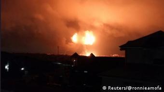 Ghana Explosion in Tankstelle