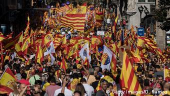 Spanien 'Für die Einheit'-Kundgebung in Barcelona