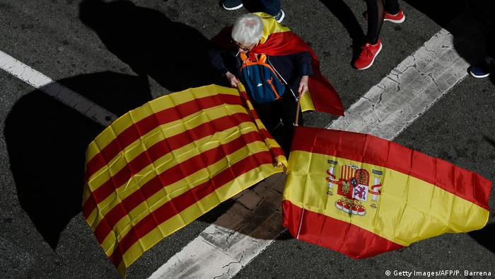 Spanien 'Für die Einheit'-Kundgebung in Barcelona (Getty Images/AFP/P. Barrena)