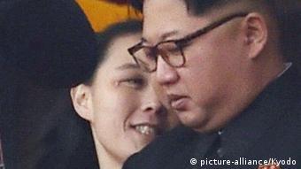Nordkorea Kim Jong Un und seine Schwester Kim Yo Jong