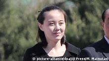 Nordkorea Kim Yo Jong (picture-alliance/dpa/Jiji Press/M. Matsutani)