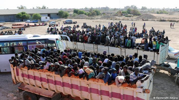 Libyen Flüchtlinge in Sabratha