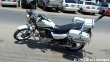 Motorrad der Polizei von Nampula.