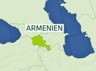 Karte Armenien (Quelle: DW-TV)