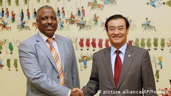 Äthiopien Abadula Gemeda und Kang Chang-hee (picture alliance/AP/Yonhap)