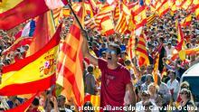 Spanien Demonstration gegen Unabhängigkeitspläne in Barcelona