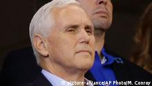 USA Mike Pence beim Spiel der der San Francisco 49ers in Indianapolis