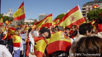 Акция протеста в Мадриде против независимости Каталонии