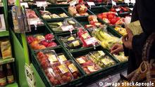 Vegetarische Lebensmittel im Supermarkt