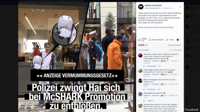 Shark-Suit Wearer Runs Afoul of Austria's 'Burqa Ban' Law