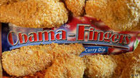 Chicken nuggets, named 'Obama Fingers.' (AP Photo/Michael Probst)