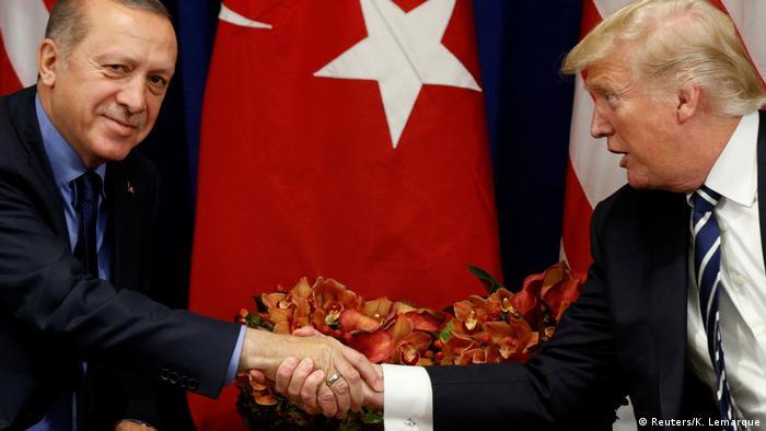 USA trump und Erdogan Treffen in New York (Reuters/K. Lemarque)