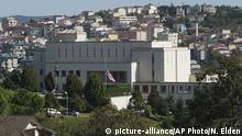 09.10.2017 *** The United States consulate in Istanbul, Monday, Oct. 9, 2017. The Unites States had suspended non-immigrant visa services at its diplomatic facilities in Turkey following the arrest of a consulate employee. Turkish officials say Turkey is asking the United States to reverse its decision to suspend non-immigrant visa services at its diplomatic facilities, saying both countries' citizens suffer from the move. (AP Photo/Neyran Elden)  