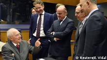 Luxemburg Finanzministertreffen Wolfgang Schäuble