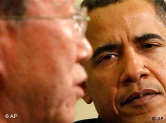 باراک اوباما، رییس جمهوری آمریکا و بان کی مون، دبیرکل سازمان ملل متحد