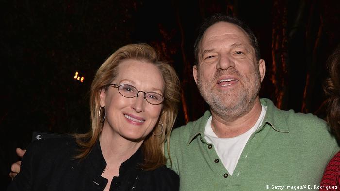 Meryl Streep und Harvey Weinstein (Getty Images/A.E. Rodriguez)